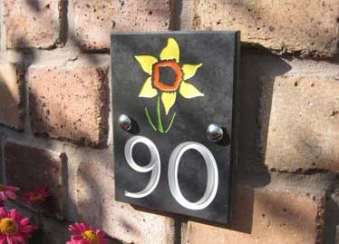 house number plate